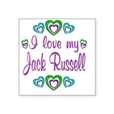 """jackrussell Square Sticker 3"""" x 3"""""""