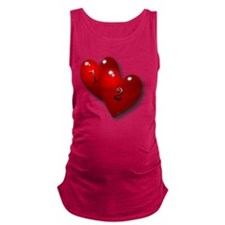 12 baby with heart Maternity Tank Top