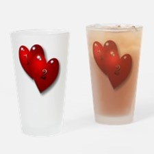 12 baby with heart Drinking Glass