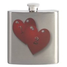 12 baby with heart Flask