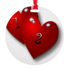 12 baby with heart Ornament