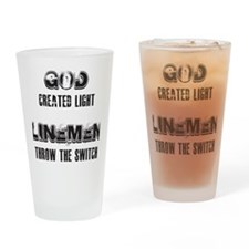 GOD CREATED LIGHT 1 Drinking Glass