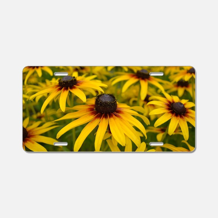 Black Eyed Susan Flowers Aluminum License Plate