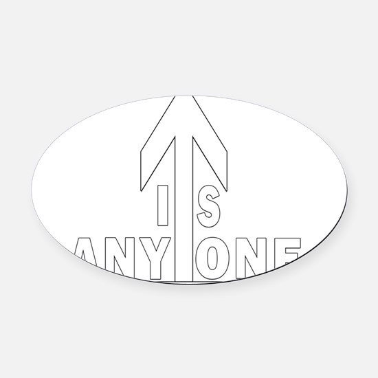 isanyoneup ipad case Oval Car Magnet