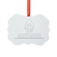 isanyoneup ipad case Ornament