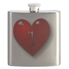1 baby with heart Flask