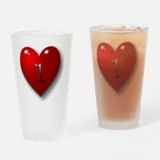 1 baby with heart Drinking Glass