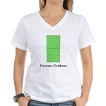 Greene, Graham Women's V-Neck T-Shirt