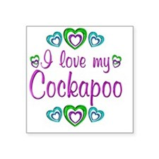 "cockapoo Square Sticker 3"" x 3"""