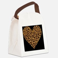 leopardblackBEACHBAGTEMPLATE Canvas Lunch Bag