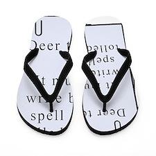 deer teacher on paper Flip Flops