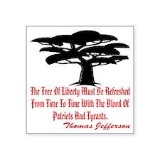 "wht_Tree_of_Liberty_2003 Square Sticker 3"" x 3"""
