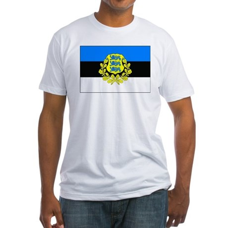 Estonia w/ coat or arms Fitted T-Shirt