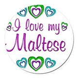 Maltese Round Car Magnets