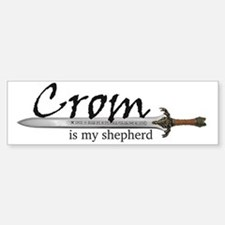 Crom is my shepherd Car Car Sticker