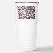 Leopard Print Brown Stainless Steel Travel Mug