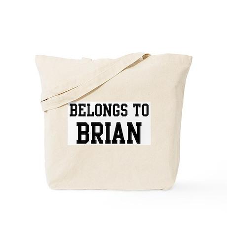 Belongs to Brian Tote Bag