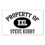 Property of Steve Kubby Rectangle Sticker