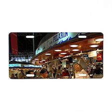 Spain, Barcelona. Food vend Aluminum License Plate