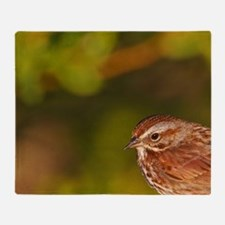 Song Sparrow (Melospiza melodia) on  Throw Blanket