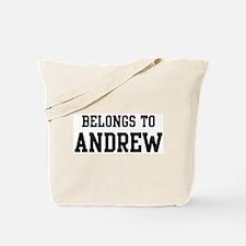 Belongs to Andrew Tote Bag