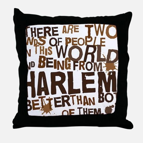 harlem_brown Throw Pillow