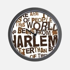 harlem_brown Wall Clock