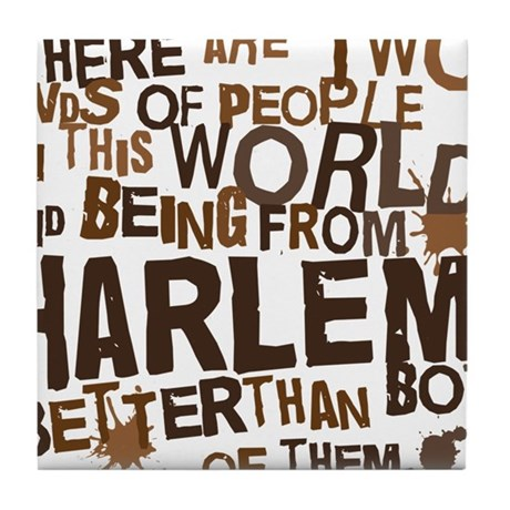 harlem_brown Tile Coaster