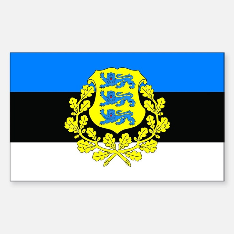 Estonia w/ coat or arms Rectangle Decal