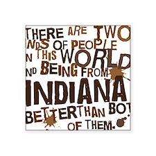 "indiana_brown Square Sticker 3"" x 3"""