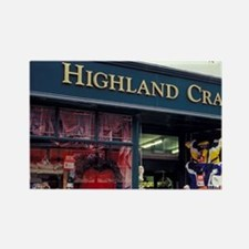 Highlands. Craft shop in the town Rectangle Magnet