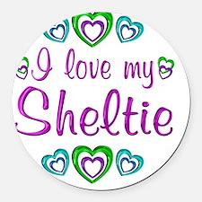 sheltie Round Car Magnet