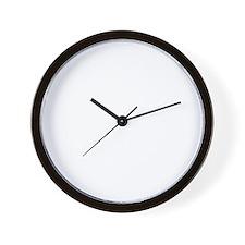 iowa_white Wall Clock