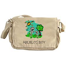 Stick Figure Abuelos Boy Messenger Bag