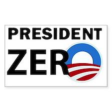 President Zero Button Decal