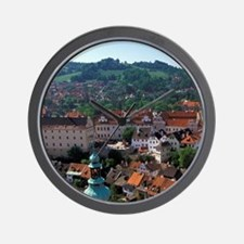 Cesky Krumlov Town view from Round Towe Wall Clock