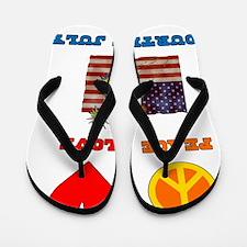 Peace Love 4th of July Flip Flops