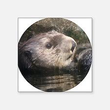 "otter 1 Square Sticker 3"" x 3"""
