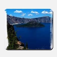 (16) Crater Lake  Wizard Island Mousepad