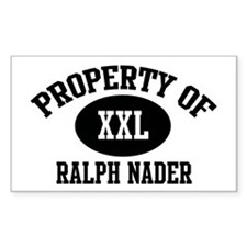Property of Ralph Nader Rectangle Decal