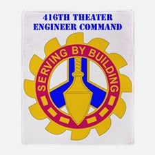 DUI-416TH THEATER ENGINEER COMMAND W Throw Blanket