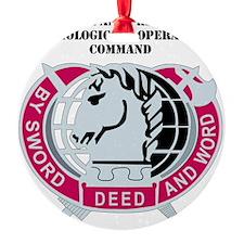 DUI-CIVIL AFFRS  PSYCH. OPS  COMMAN Round Ornament
