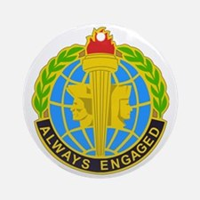 DUI-MILITARY INTELLIGENCE READINESS Round Ornament
