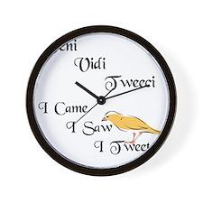 veni vidi tweeci light Wall Clock