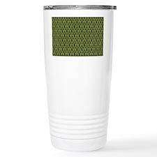 PineTreeDamaskClutchBag Travel Mug