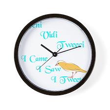 veni vidi tweeci dark Wall Clock