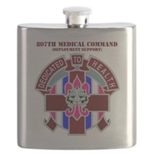 DUI-807TH MEDICAL SUPPORT COMMAND WITH TEXT Flask