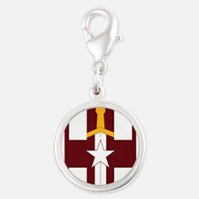 SSI-807TH MEDICAL SUPPORT COMM Silver Round Charm