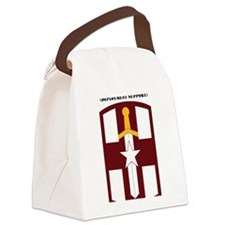 SSI-807TH MEDICAL SUPPORT COMMAND Canvas Lunch Bag