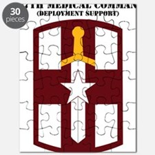SSI-807TH MEDICAL SUPPORT COMMAND WITH TEXT Puzzle